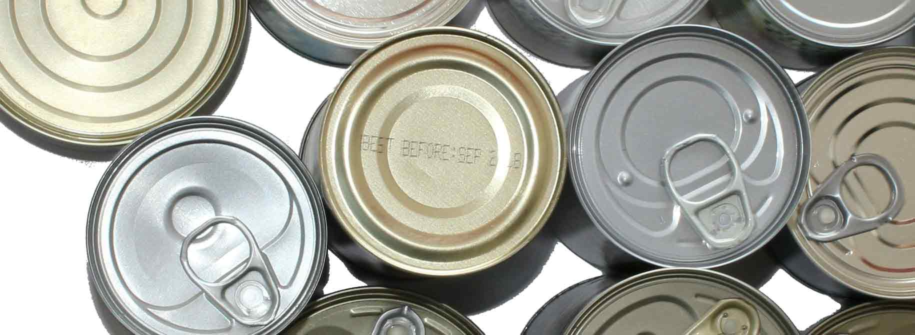 picture of metal cans
