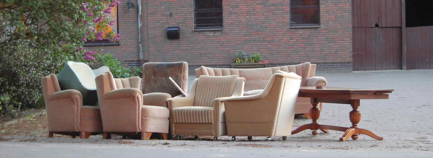 furniture on the street waiting pickup