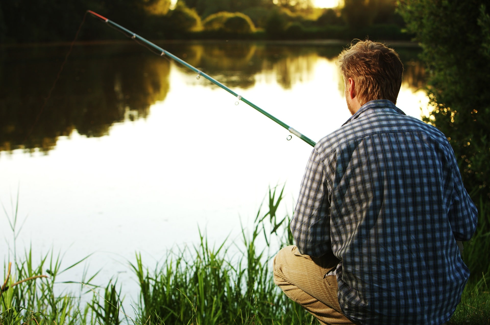 picture of a man fishing