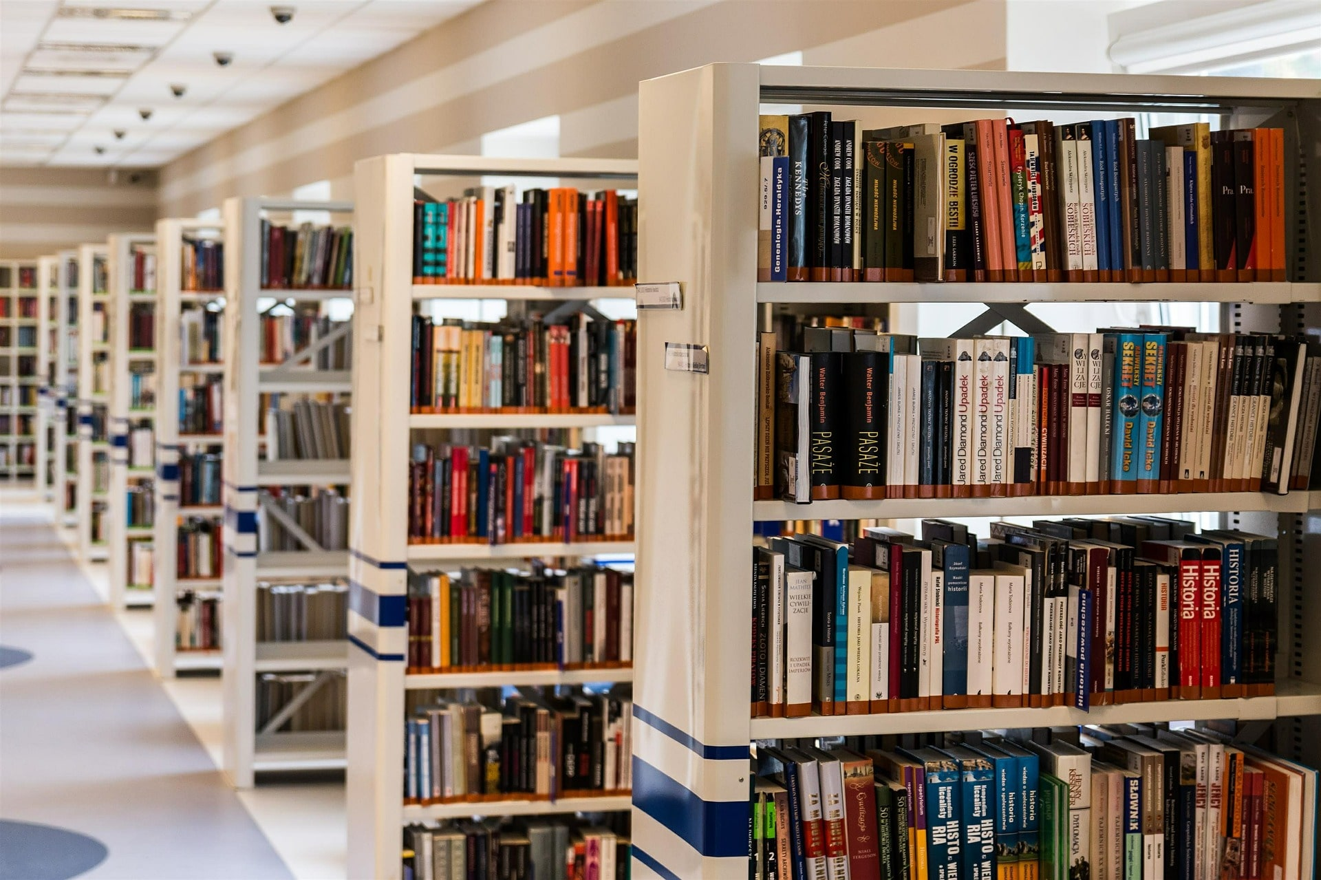 picture of library shelves