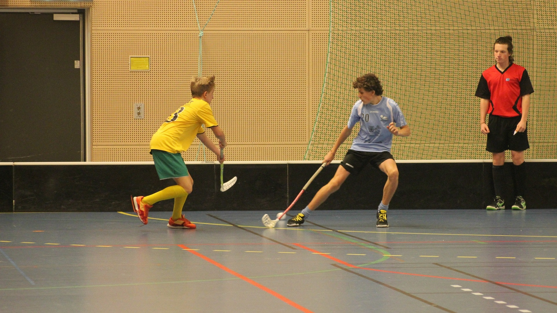 picture of floorball players