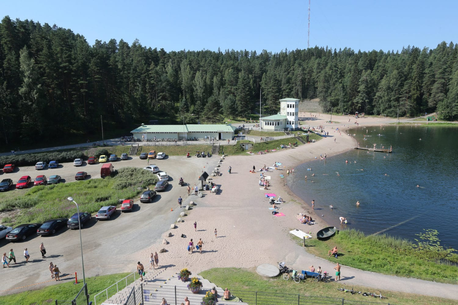 Ahvenisto outdoor pool beach