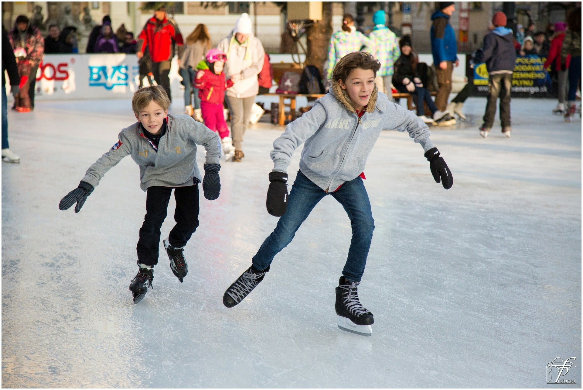 picture of two boys skating