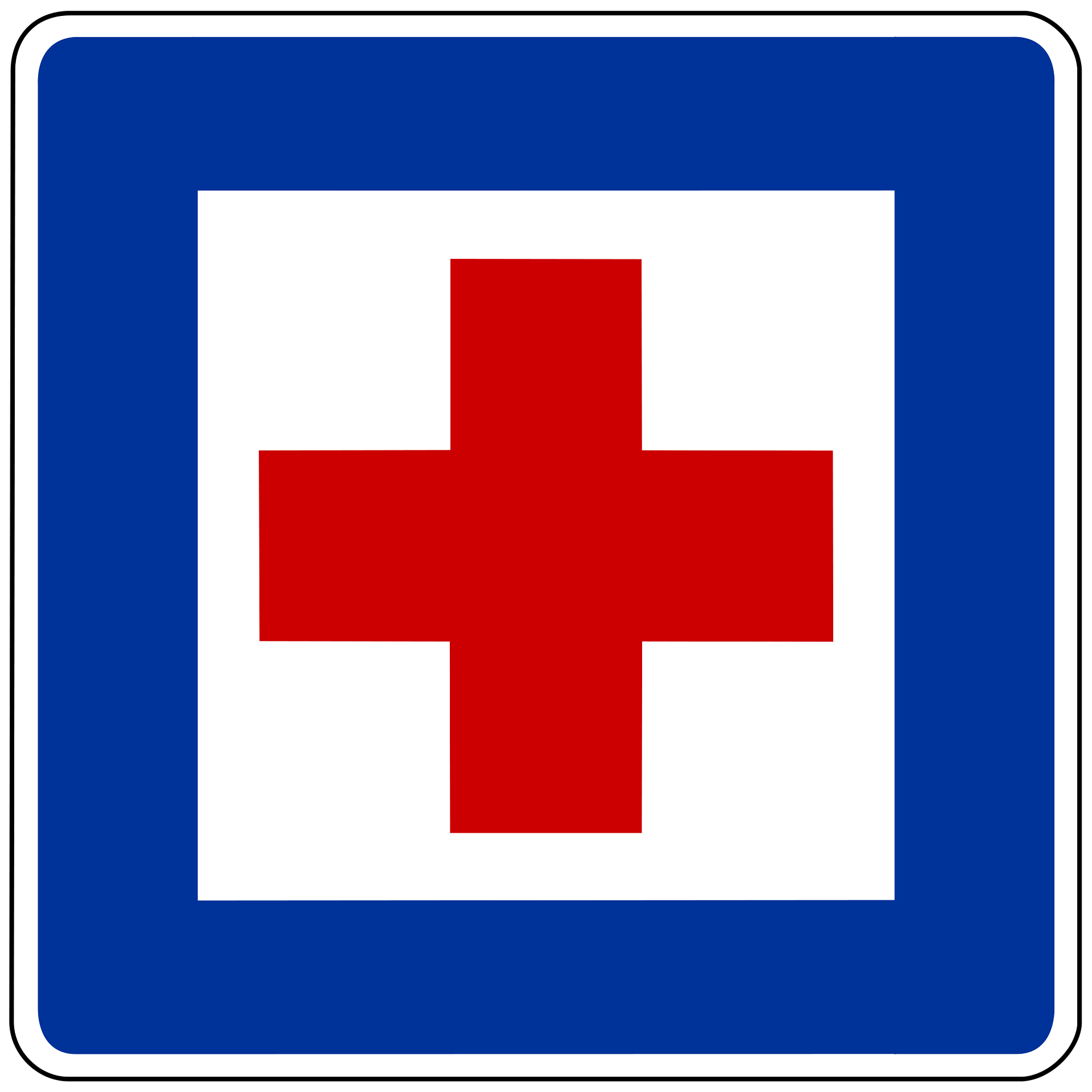 picture of first aid traffic sign