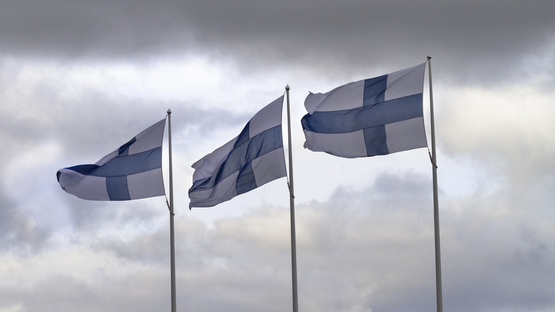 picture of Finnish flags